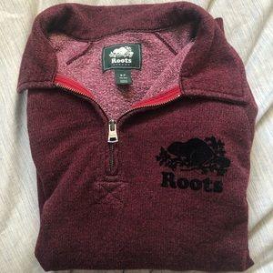 Roots half zip hoodie